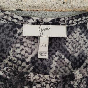 Joie Tops - Joie Snake Skin Print Savory Silk Joann F Top